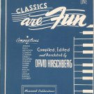 Vintage Classics Are Fun Book One by David Hirschberg Piano Musicord Publications 1947