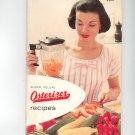 Vintage Super Deluxe Osterizer Recipes Cookbook & Manual 1960