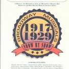 Broadway Musicals Show By Show 1917 - 1929 079351049x  E Z Play 316 Piano Keyboard Organ
