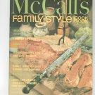 Vintage McCall's Family Style Cookbook M8 1972 Edition McCalls Mc Calls