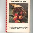 The Kitchen Kupboard Cookbook & Hints Vintage Worldwide Church Of God New York  1976