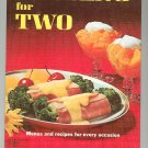 Better Homes & Gardens Cooking For Two Cookbook 1969 Vintage