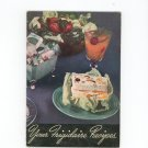 Vintage Your Frigidaire Recipes Cookbook Plus 1940