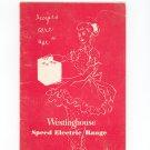 Vintage Westinghouse Speed Electric Range Cookbook & Manual 1955