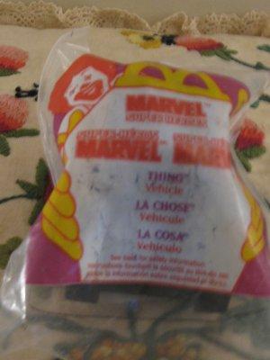 McDonalds Marvel Super Heroes Thing Vehicle # 6  Never Opened