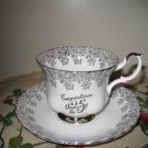 Royal Albert Cup & Saucer Congratulations 25 Anniversary Unique Different England