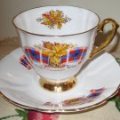 Windsor Royal Canadian Tartan Cup & Saucer Bone China England