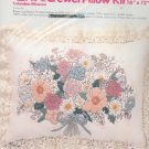 Columbia Minerva Brown Line Floral Pillow Kit 7910