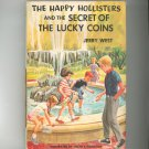 Vintage The Happy Hollisters And The Secret Of The Lucky Coins Jerry West Hard Cover Dust Jacket