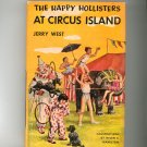 Vintage The Happy Hollisters At Circus Island Jerry West Hard Cover Dust Jacket