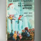 Vintage The Happy Hollisters And The Ice Carnival Mystery Jerry West Hard Cover Dust Jacket