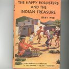 Vintage The Happy Hollisters And The Indian Treasure Jerry West Hard Cover Dust Jacket