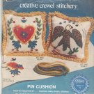 Vintage Paragon Eagle Creative Crewel Stitchery Pin Cushion # 0939