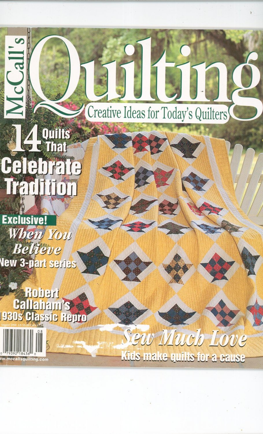 McCall's Quilting Magazine Back Issue August  2000
