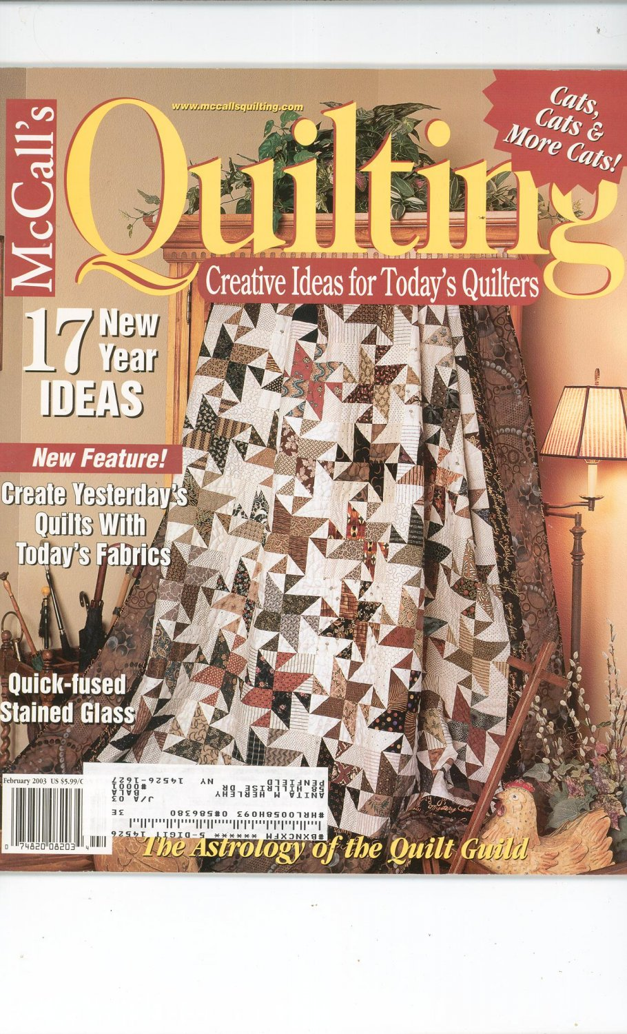 McCall's Quilting Magazine Back Issue February 2003