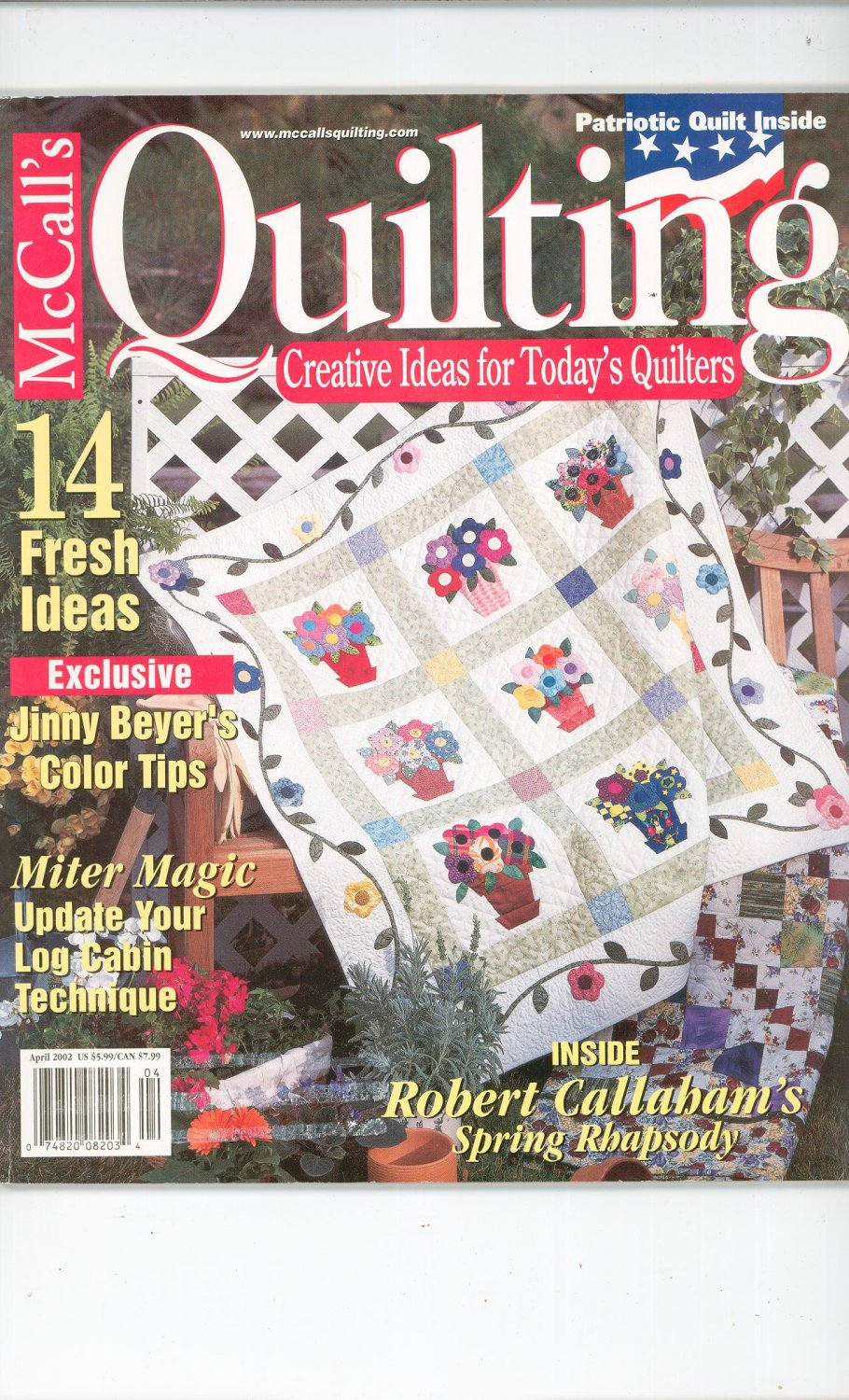 McCall's Quilting Magazine Back Issue April 2002
