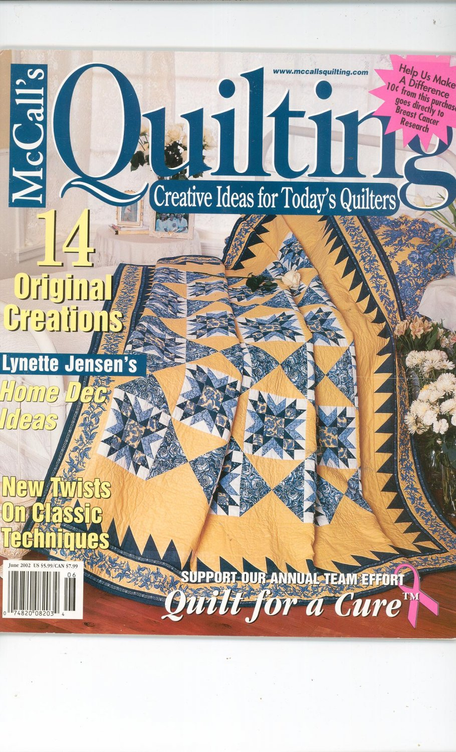 McCall's Quilting Magazine Back Issue June 2002