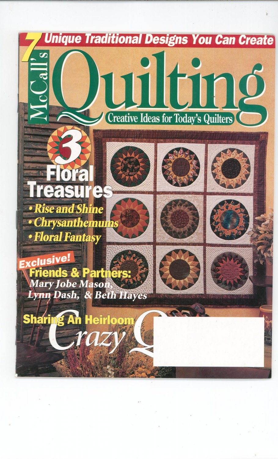 McCall's Quilting Magazine Back Issue October 1996