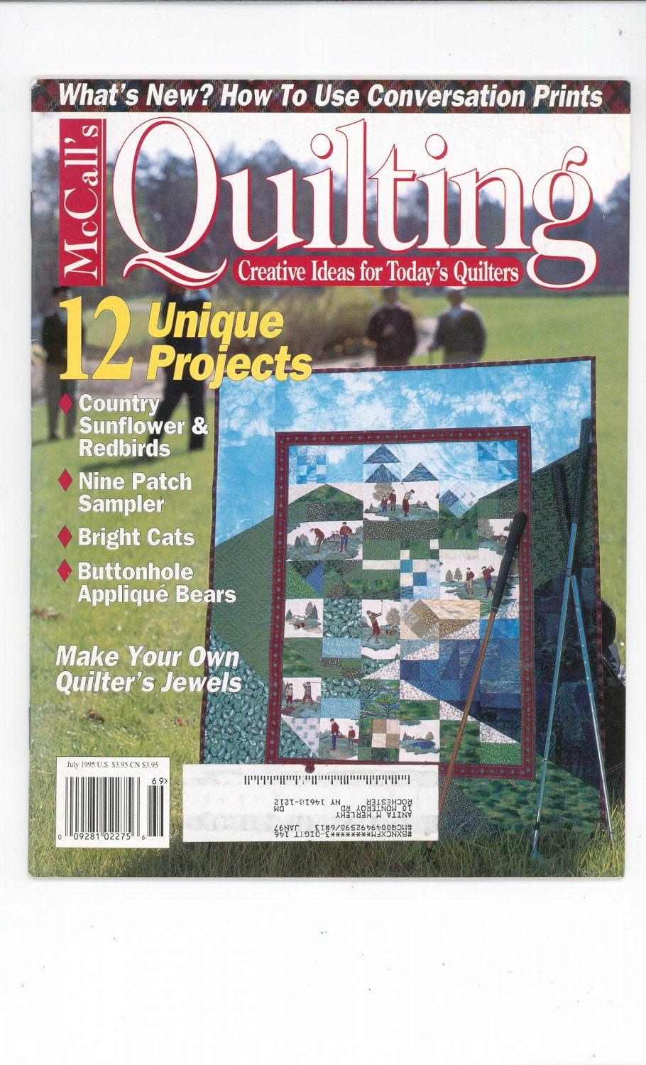 McCall's Quilting Magazine Back Issue July 1995
