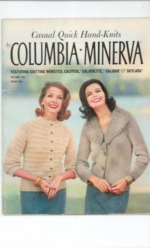 Vintage Casual Quick Hand Knits By Columbia Minerva Volume 735
