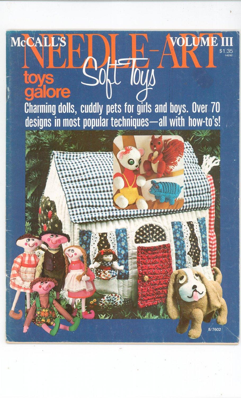 McCall's Needle Art Soft Toys Volume III Vintage 1976