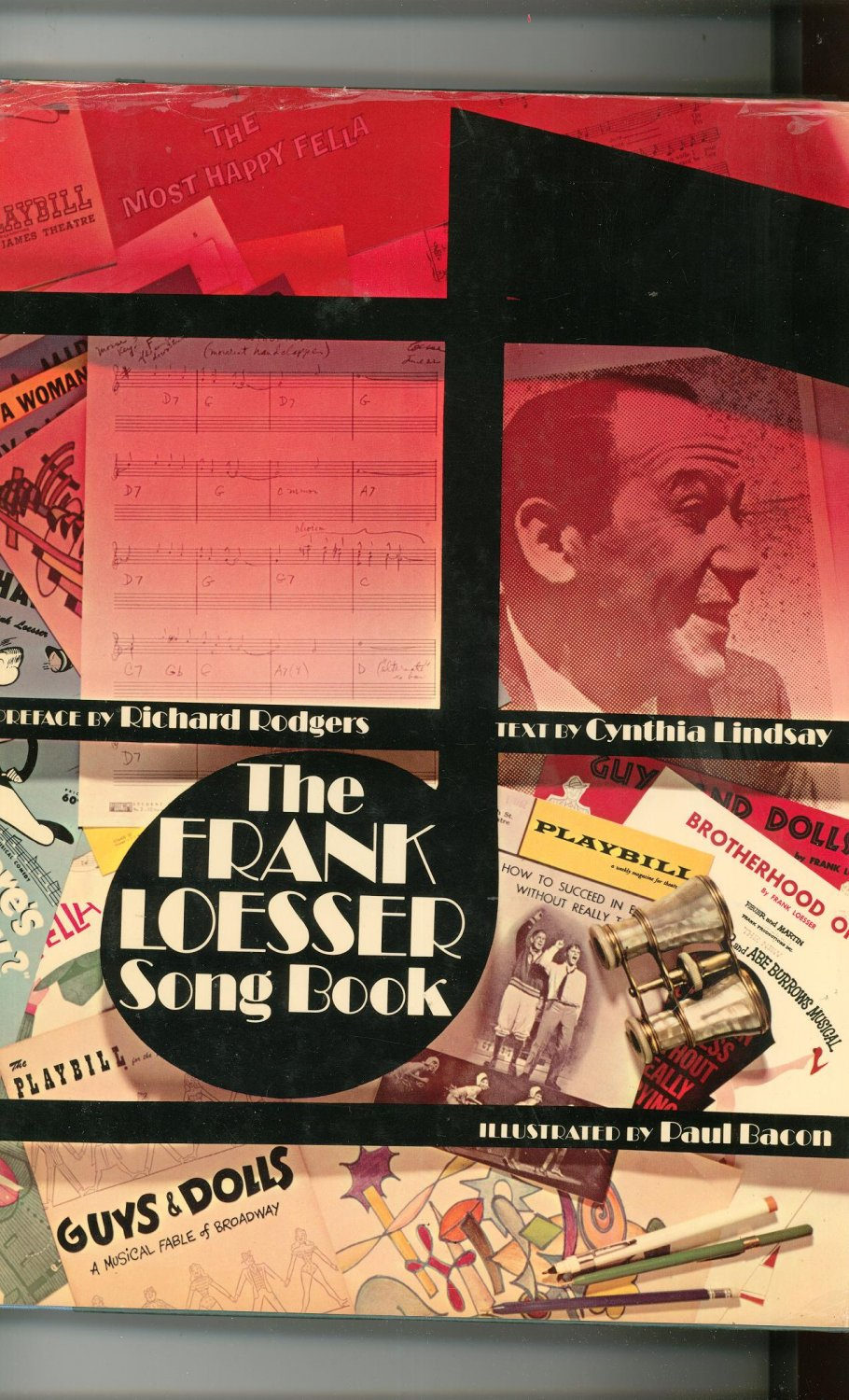 The Frank Loesser Song Book Vintage First Printing Hard Cover Rodgers Lindsay 671208934