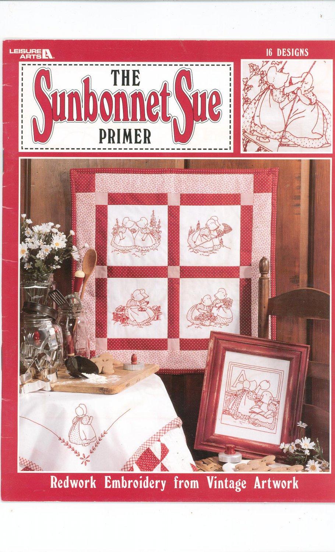 The Sunbonnet Sue Primer Redwork Embroidery Leisure Arts 1874