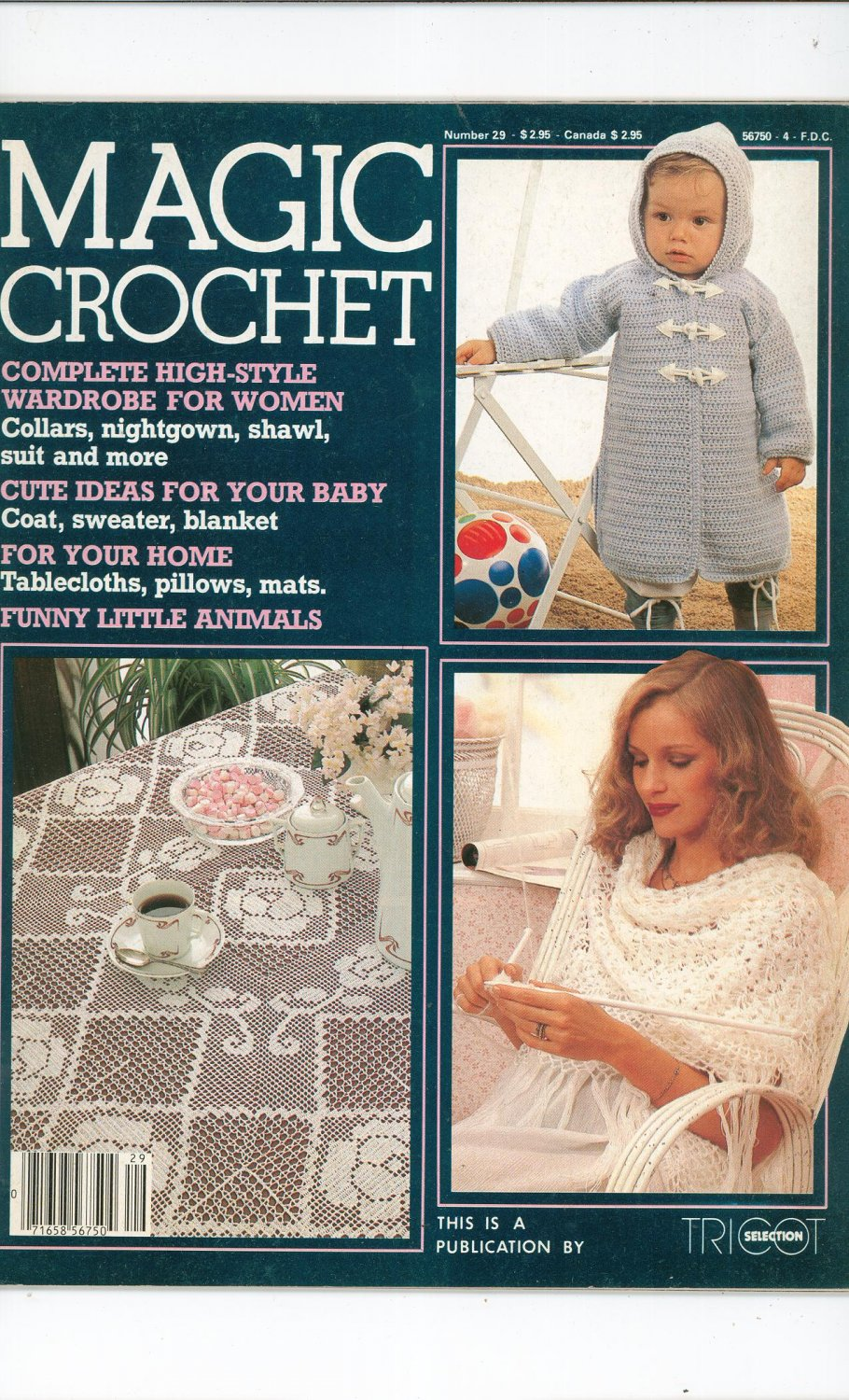 Magic Crochet Number 29 February 1984 Tricot Selection