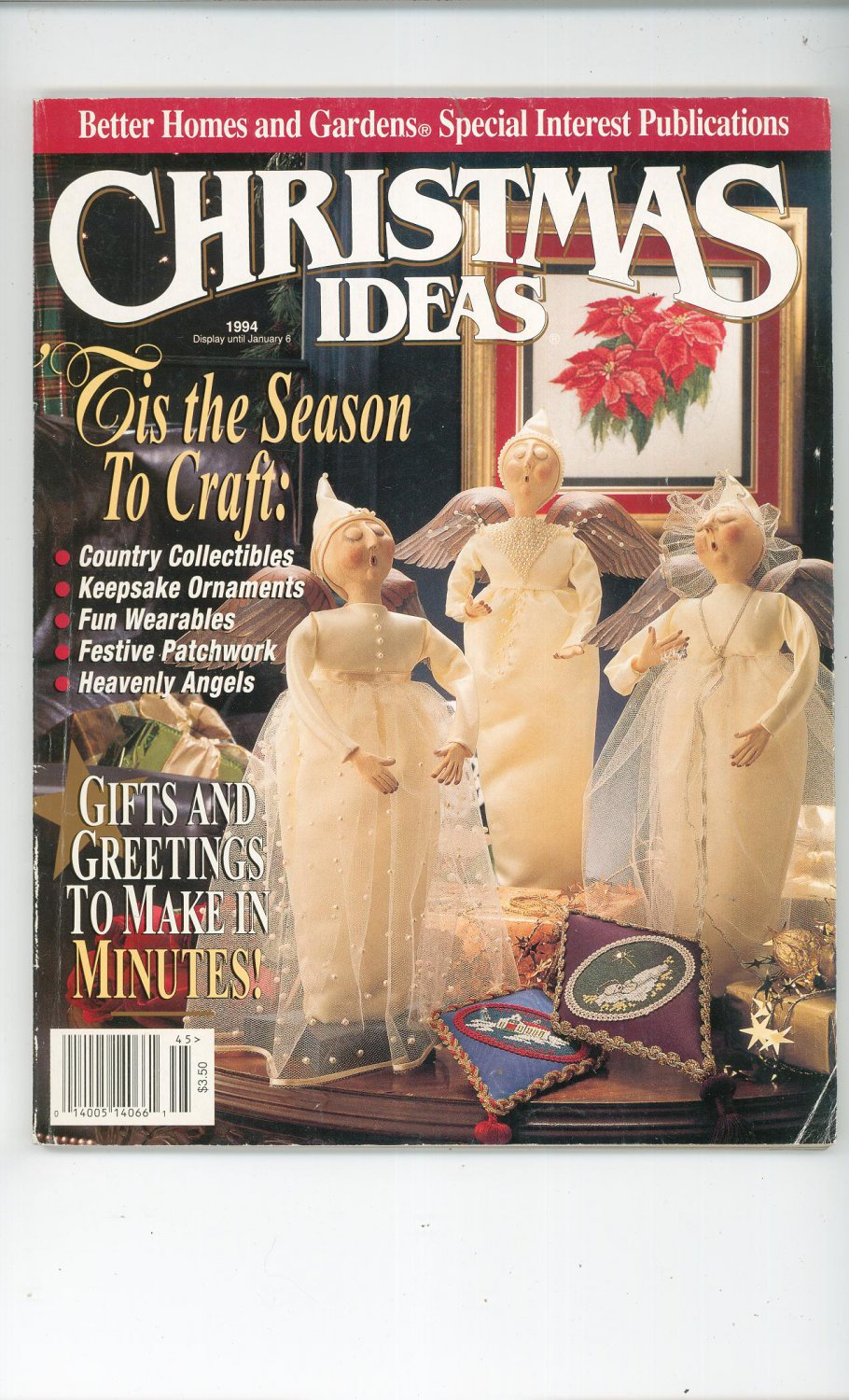 Christmas Ideas By Better Homes And Gardens 1994 Gifts And Greetings To Make In Minutes