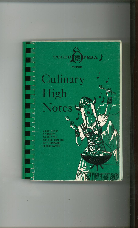 Regional Culinary High Notes Cookbook Toledo Opera Guild