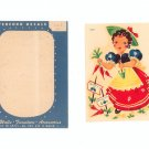 Nice Vintage Set Of 2 Meyercord Decals Style 862-B Girl In Garden Miss Muffet ?