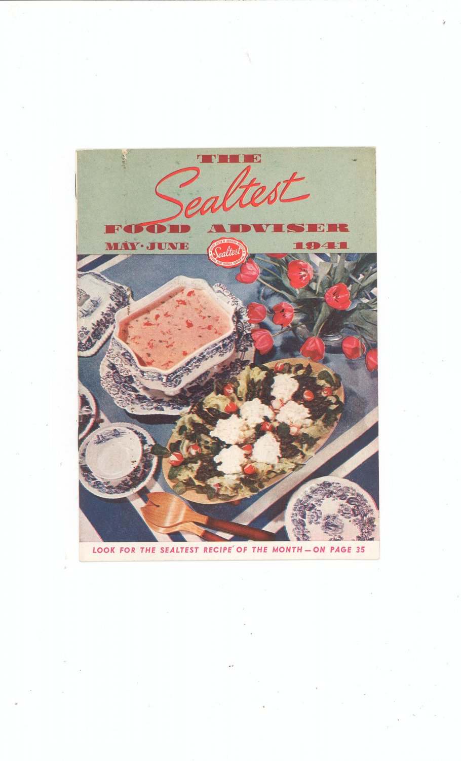 The Sealtest Food Adviser May June 1941 Cookbook Vintage