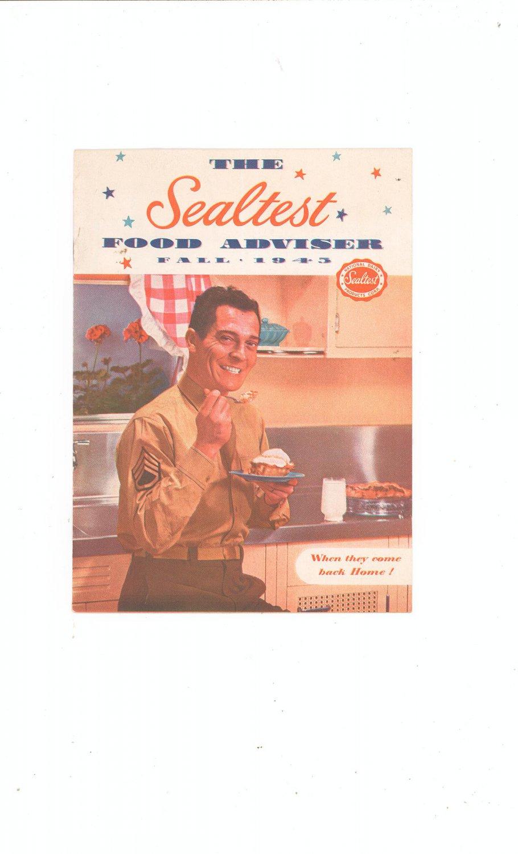 The Sealtest Food Adviser Fall 1945 Cookbook Vintage