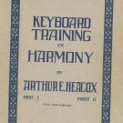 Vintage Keyboard Training In Harmony Part One Arthur Heacox 1945