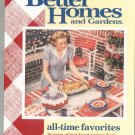 Better Homes And Gardens All Time Favorites Cookbook 0696211289 First Edition