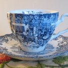 Coaching Scenes Hunting Country Johnson Bros Cup & Saucer Ironstone England