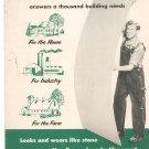 Vintage Johns Manville Asbestos Flexboard Home Industry Farm Advertising Brochure 1953