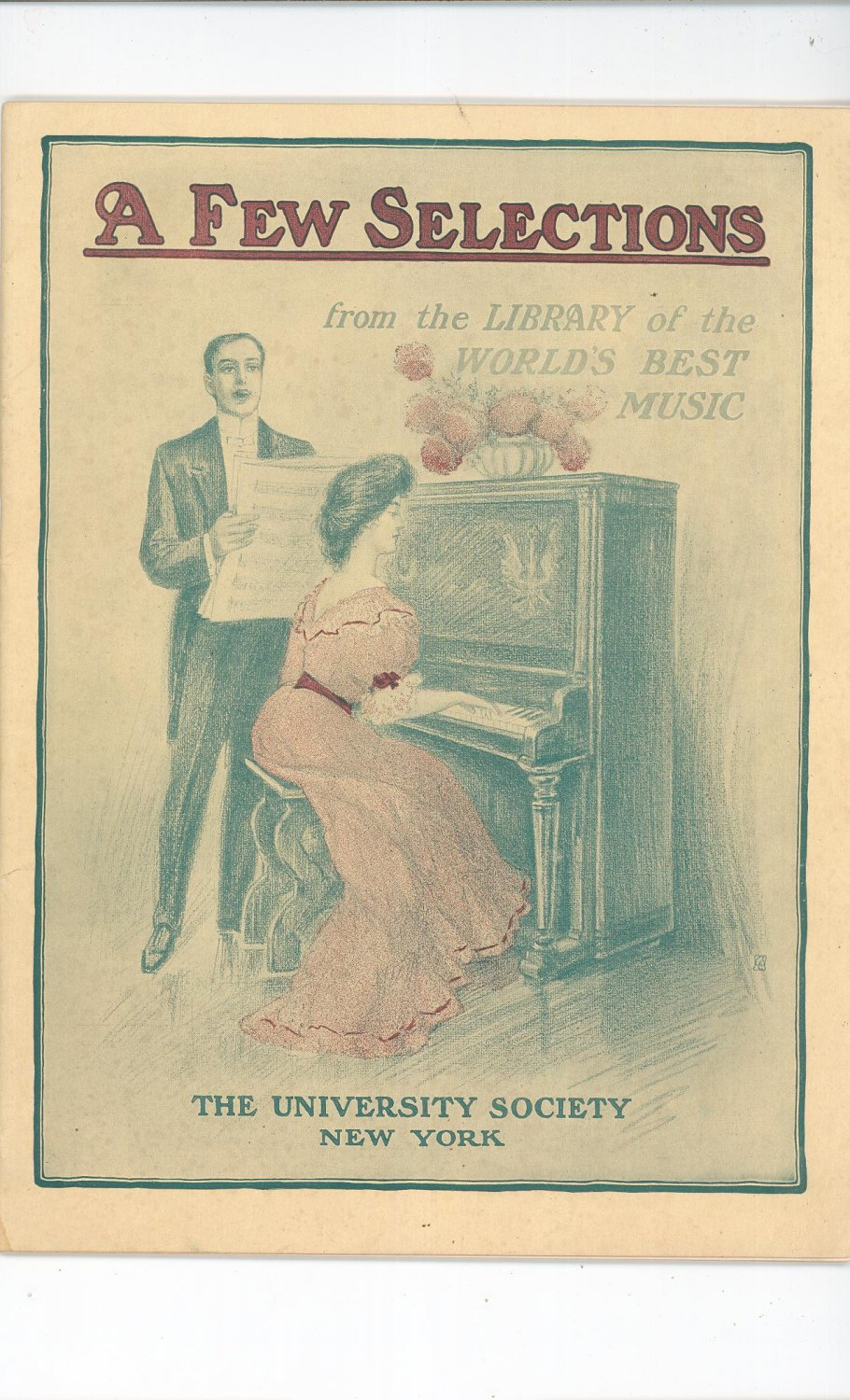 Vintage A Few Selections The University Society NY from Library World's Best Music