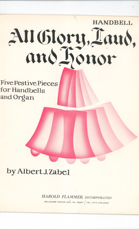 All Glory Laud And Honor Sheet Music Handbells & Organ Albert Zabel