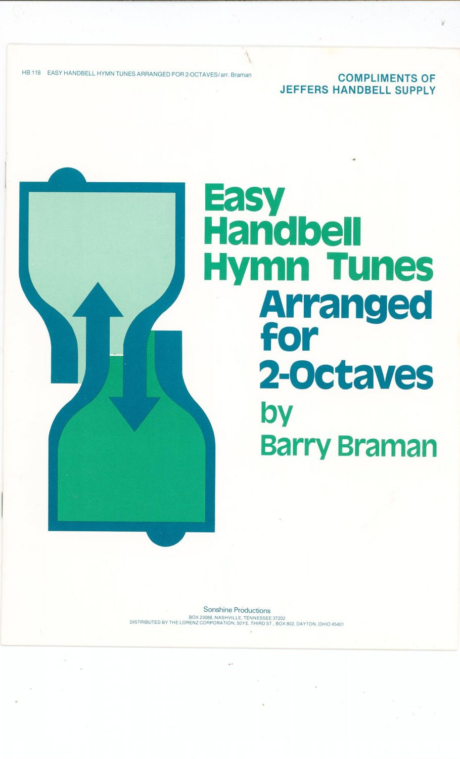Easy Handbell Hymn Tunes By Barry Braman HB 118