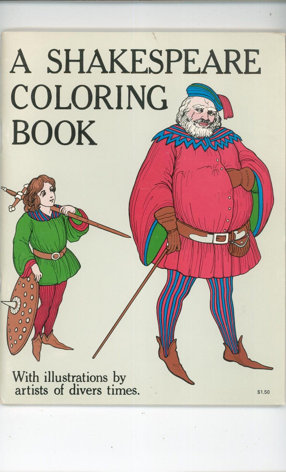 Vintage A Shakespeare Coloring Book 1970 Bellerophon Books