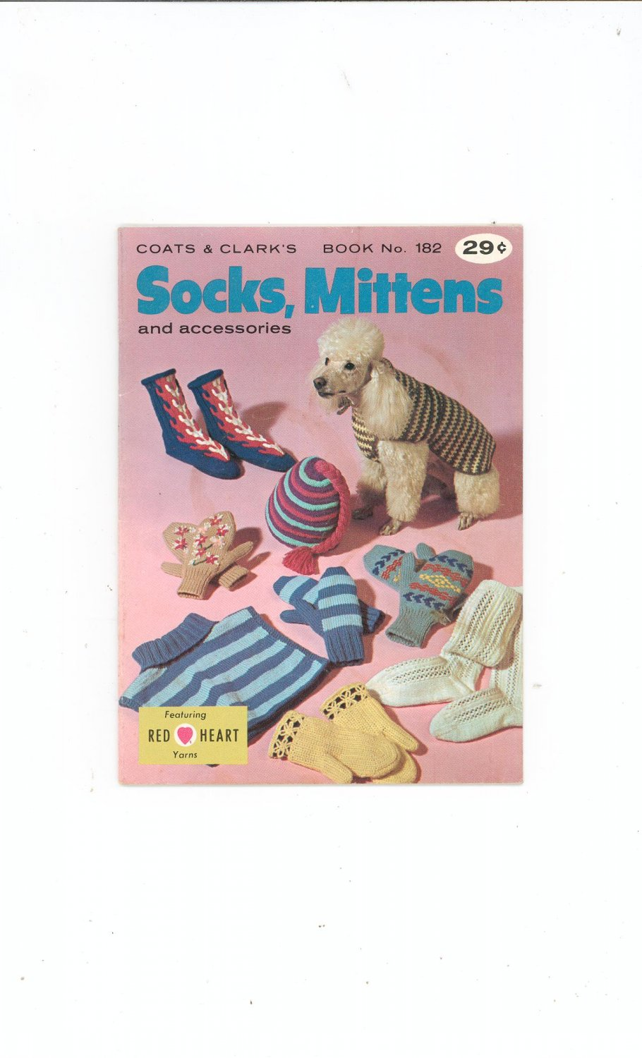 Vintage Coats & Clark's Book No. 182 Socks Mittens Accessories  First Edition