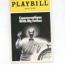 Playbill Conversations With My Father Royale Theatre Souvenir Volume 92 Number 11
