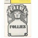 Playbill Follies Winter Garden Theatre Souvenir 1971