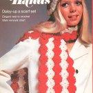 Golden Hands Part 31 Daisy Up Scarf Set Crochet Vest  Vintage
