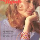 Golden Hands Part 36 Stitchery Jewelry In Needlepoint Baby Sacque Knit Vintage