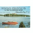 1000 Islands In The St. Lawrence River  Brochure / Guide Pilgrim Line Tour Boat