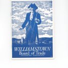 Vintage Williamstown Board of Trade Massachusetts  Travel Brochure / Guide