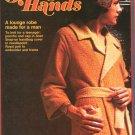 Golden Hands Part 53 Lounge Robe Poncho & Cap Knit Embroider  Vintage