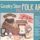 Country Store Folk Art Painting Wood Fabric Full Size Design Patterns